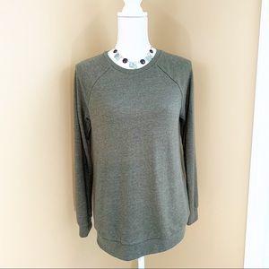 F21 Oversized Sweatshirt Olive Army Green small